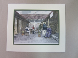 OBRA GRAFICA ref.357.grabado antiguo coloreado a mano.ano 1876.33 x 26....75 euros